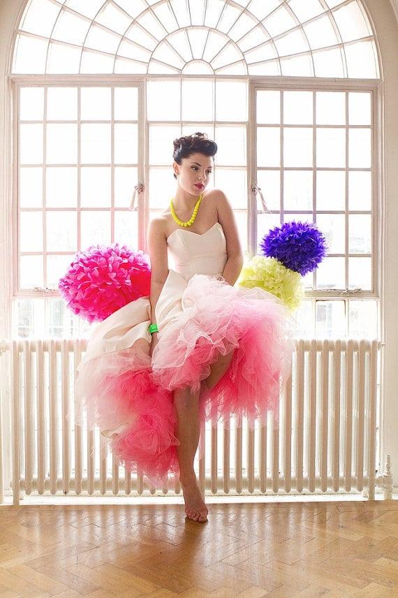 Dip Dye Ombre wedding dress