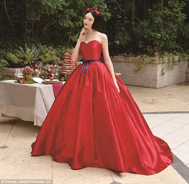 Disney princess gowns wedding dress princess wedding for Disney inspired wedding dresses 2017