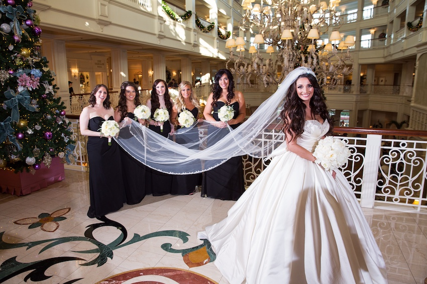 Mickey Ears Disney Wedding Dresses Veil