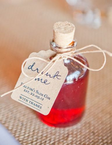 gin wediding favours
