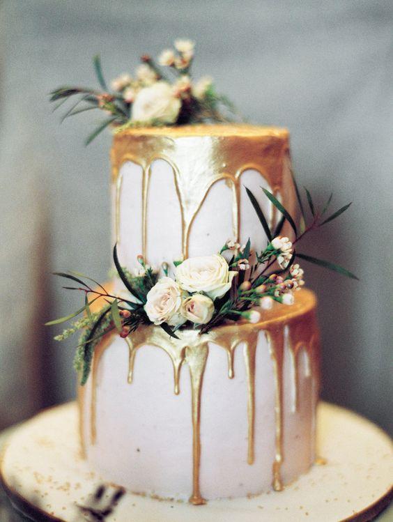 wedding metallic cake