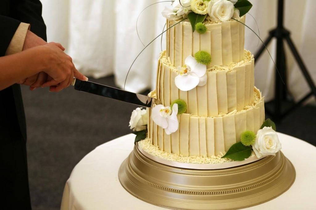 Vegan White Wedding Cake